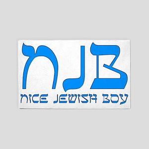 NJB - Nice Jewish Boy 3'x5' Area Rug