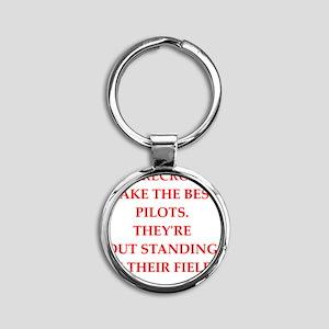 pilot Round Keychain