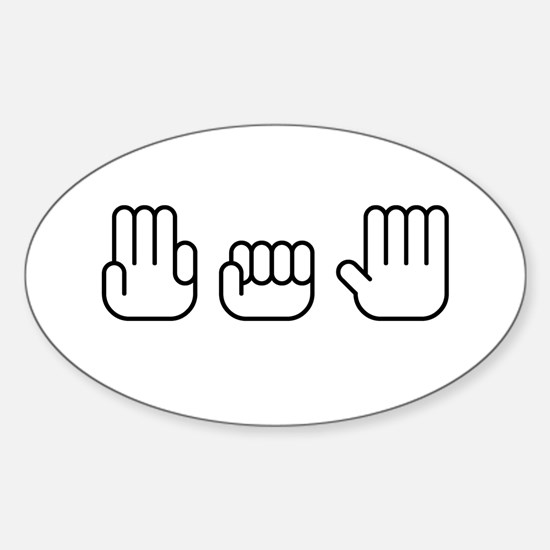 305 Hands Style Oval Decal