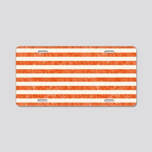 Vintage Orange and White Be Aluminum License Plate