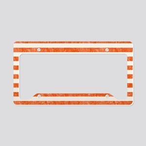 Vintage Orange and White Beac License Plate Holder
