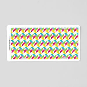 Cute Pinwheel Pattern Aluminum License Plate