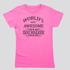dog walker Girl's Tee