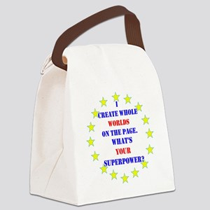 Superhero Writer Canvas Lunch Bag