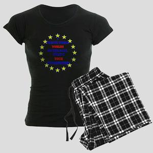 Superhero Writer Women's Dark Pajamas