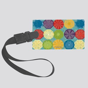 Colorful Beach Umbrellas Summer  Large Luggage Tag
