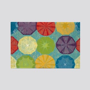 Colorful Beach Umbrellas Summer B Rectangle Magnet