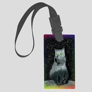 Kitty Rainbow Large Luggage Tag