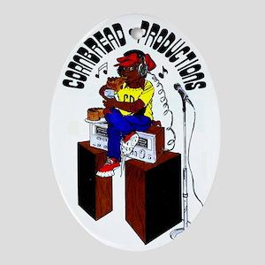 Cornbread Productions logo (color) Oval Ornament