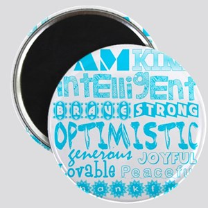 Positive Affirmations (Light Blue) Magnet