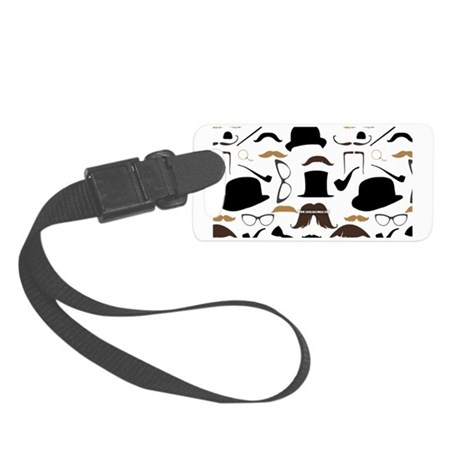 Mustache Ladies and Gentlemen Small Luggage Tag