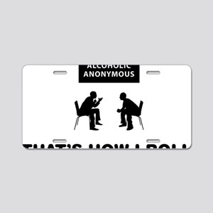 Alcoholic-Anonymous-12-A Aluminum License Plate