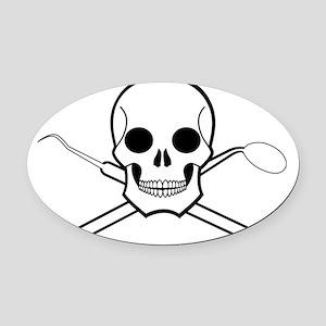 Chompy Chompy Pirates Oval Car Magnet