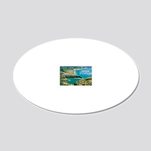 Lagoa do Fogo 20x12 Oval Wall Decal