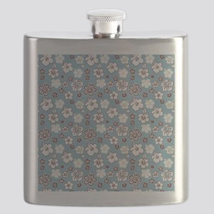Tropical Hibiscus Carolina Blue Flask