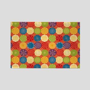 Colorful Beach Umbrellas Summer O Rectangle Magnet