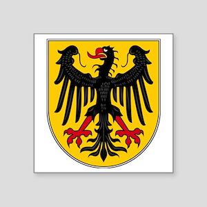 "Aachen Square Sticker 3"" x 3"""