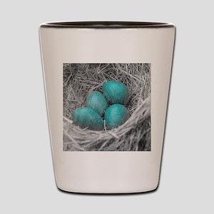 Robin Eggs Grunge Shot Glass