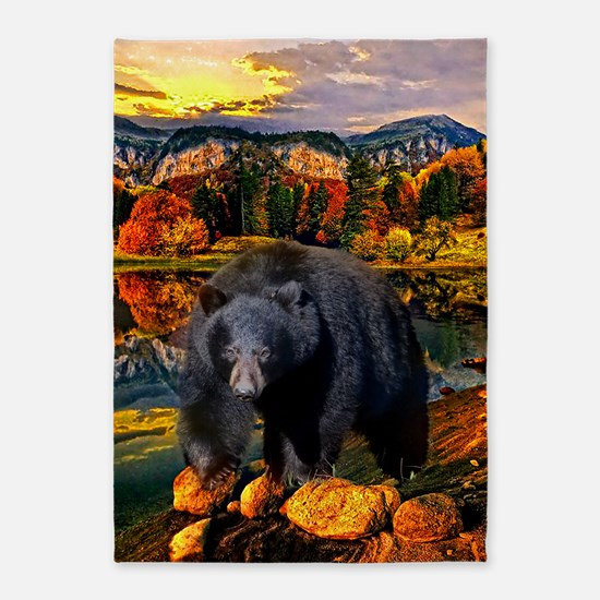 Bear Lookout 5'X7'area Rug