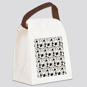 Mustache Ladies and Gentlemen Canvas Lunch Bag