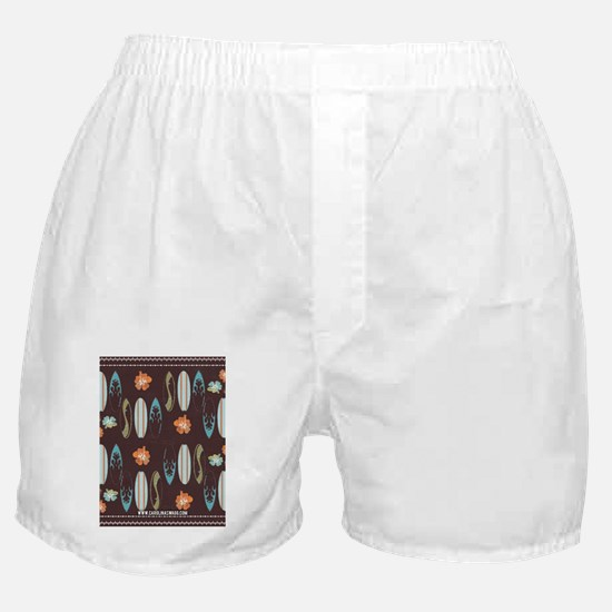 Vintage Beach Surf Boards Rustic Boxer Shorts