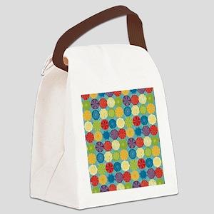 Colorful Beach Umbrellas Summer B Canvas Lunch Bag