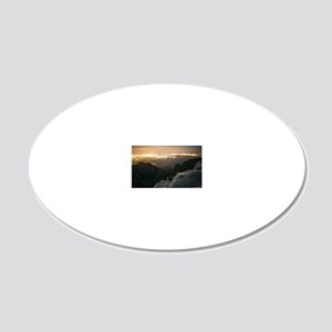 View Down 20x12 Oval Wall Decal