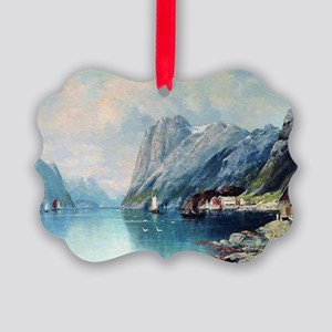 Fjord in Norway, painting by Lev  Picture Ornament