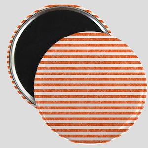 Vintage Orange and White Beach Stripes Magnet