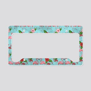 Flamingos License Plate Holder