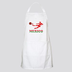 Mexican Soccer Player BBQ Apron
