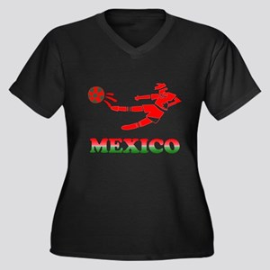Mexican Soccer Player Women's Plus Size V-Neck Dar