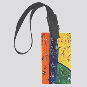 Botswana life Large Luggage Tag