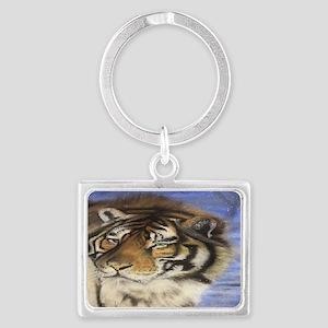 Daddys Tiger Landscape Keychain