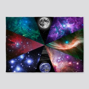 Astronomy Collage 5'x7'Area Rug