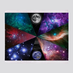 Astronomy Collage Throw Blanket
