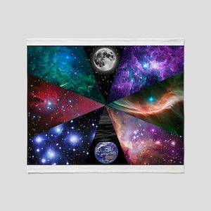 Astronomy Collage Throw Blanket