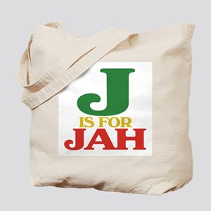 J is for Jah Tote Bag
