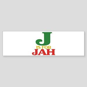 J is for Jah Bumper Sticker