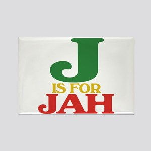 J is for Jah Rectangle Magnet