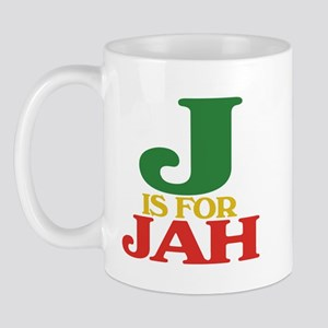 J is for Jah Mug