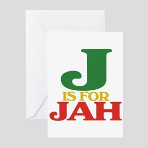 Dub greeting cards cafepress j is for jah greeting cards pk of 10 m4hsunfo