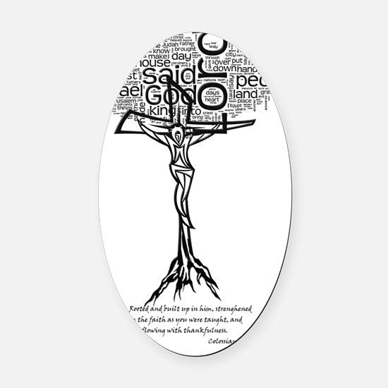 Roots Christ Oval Car Magnet
