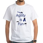Agility is Fun JAMD White T-Shirt