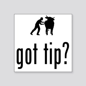 """Cow-Tipping-02-A Square Sticker 3"""" x 3"""""""