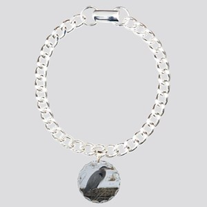 Great Blue Heron Charm Bracelet, One Charm