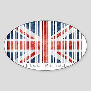 United Kingdom Barcode Sticker (Oval)