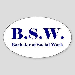BSW (Design 2) Oval Sticker