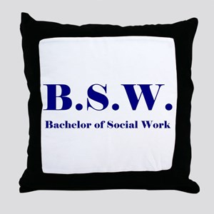 BSW (Design 2) Throw Pillow