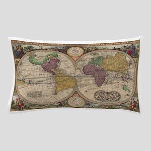 World Map 1657 Pillow Case